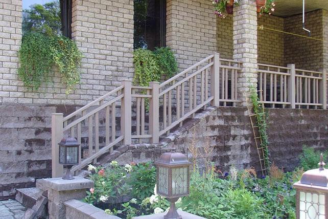 Декоративное ограждение из ДПК для лестницы и террасы (2016 год)