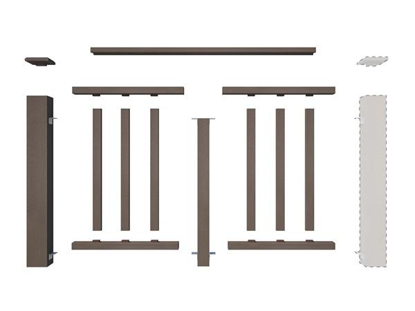 декоративное ограждение ДПК сборка схема