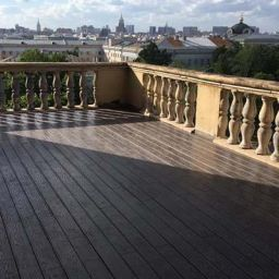 Декинг ДПК на балконе